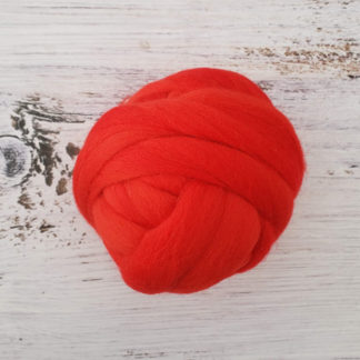 Red wool roving