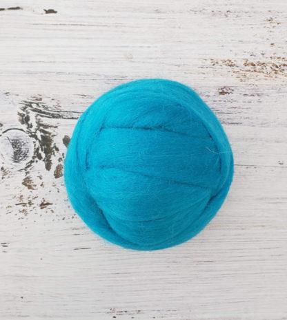 Sapphire wool roving