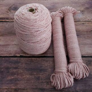 blush macrame rope