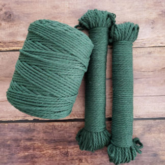 dark green macrame rope
