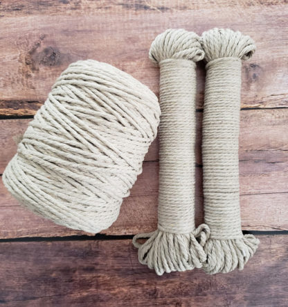 latte colour rope for macrame and crafts