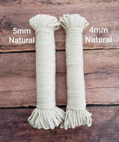 5mm and 4mm rope for macrame