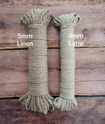 linen and latte recycled cotton rope
