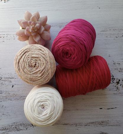 pink tshirt yarn