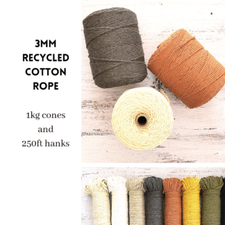 3mm Recycled Cotton Rope