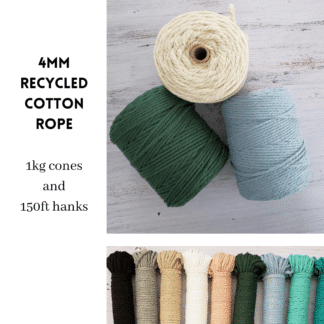 4mm Recycled Cotton Rope