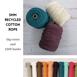5mm Recycled Cotton Rope