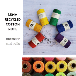 Recycled Cotton Rope - 1.5mm Mini Rolls