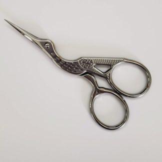 Small silver stork scissors