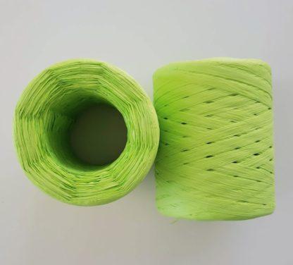 bright green raffia