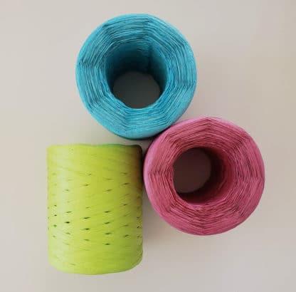 colourful raffia yarn
