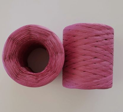 dark pink raffia