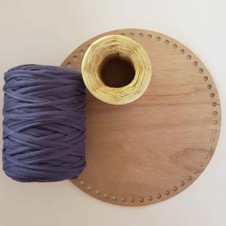 10 inch wooden basket bottom for crochet t-shirt yarn