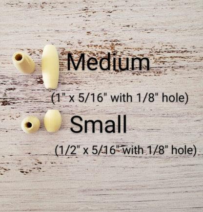 wooden barrel beads