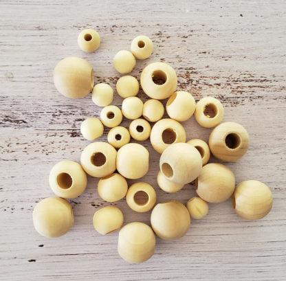 round wooden beads
