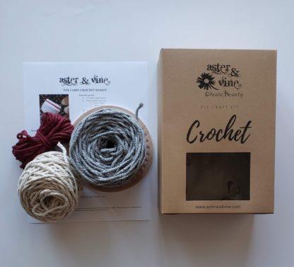 cabin crochet basket kit