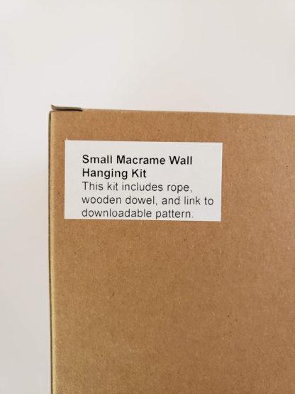 small macrame wallhanging kit