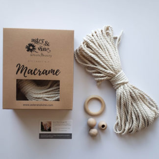 spiral macrame plant hanger kit