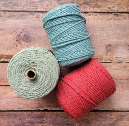 collection of macrame rope colours