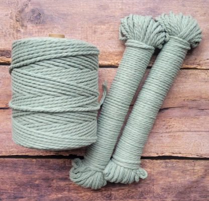 4mm sage green macrame rope