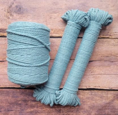 4mm slate recycled cotton rope