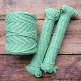 5mm mint recycled cotton rope