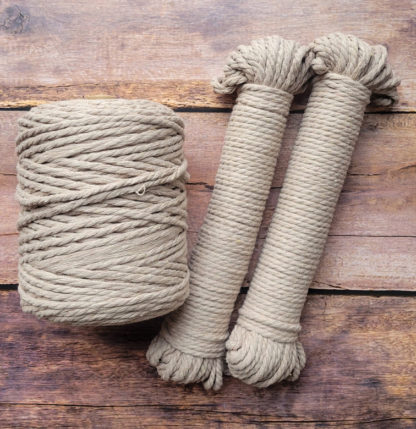 5mm champagne recycled cotton rope