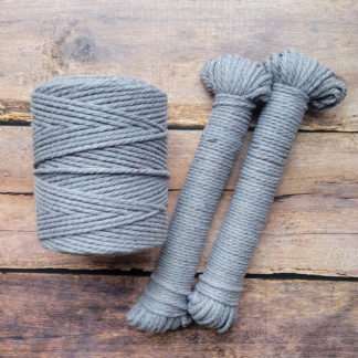 4mm dusty lavender recycled cotton rope