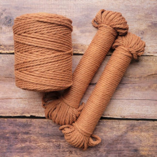 5mm rust recycled cotton rope