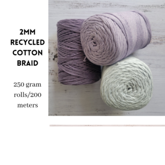2mm Recycled Cotton Braid